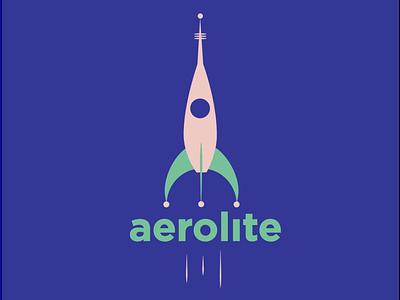 aerolite #dailylogochallennge blue space dailylogochallenge logo rocketship