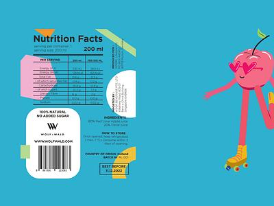 Apple red love nutritional label. nutritional tag label design illustration