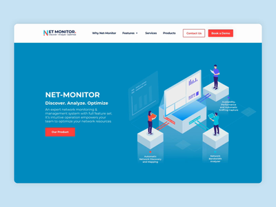 Discover. Analyze. Optimize website design website visual identity ux ui product design mobile illustraion icons design system design animation