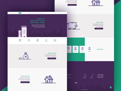 Consult Center illustration webdesign clean ux ui web team icons home flat cta contact