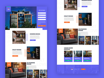 Vision Tower website web ux ui real estate property landing page experience design