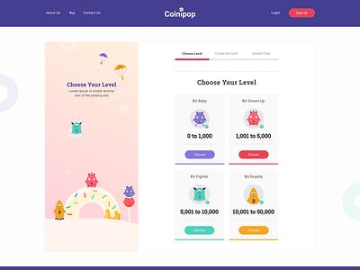 Coinipop Buy Bitcoins Easily branding web illustration flat ux design ui