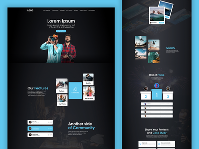 Photographers Community Startup competition quality hall of fame web mobile feed app design ui