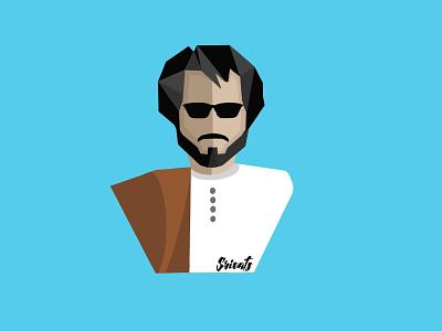 Superstar Rajinikanth sticker design design art illustration flat illustrator flat design digital art
