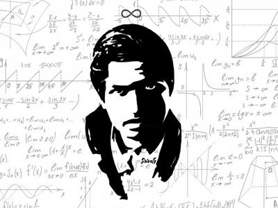 The Man Who Knew Infinity - Srinivasa Ramanujan design illustrator black and white design art silhoutte digital illustration digital art illustration