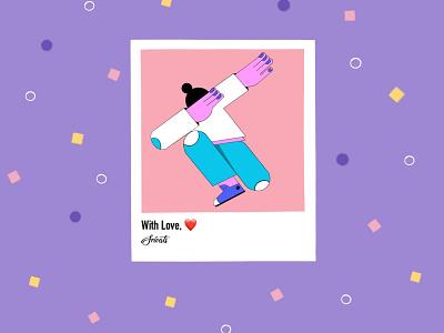 Forever Grateful respect grateful flat illustration flat illustrator flat design digital illustration digital art illustration