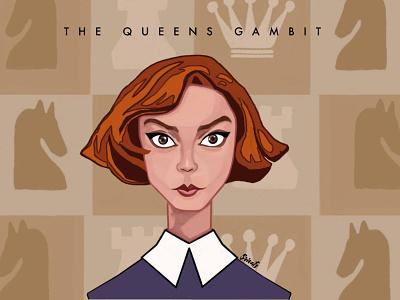 The Queen's Gambit netflix series art digital fanart thequeensgambit digital painting artwork illustration digital art