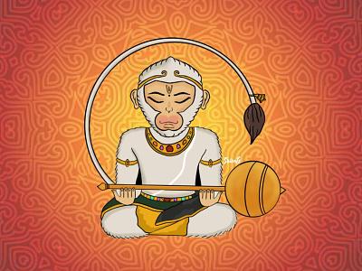 Lord Hanuman mystical spritual design god art anjaneyar ramayana hanuman lord concept art artwork digital illustration digital art illustration
