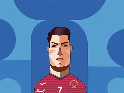 Cristiano Ronaldo cristiano ronaldo ronaldo portugal football club football caricature flat illustration fanart concept art artwork digital illustration digital art illustration