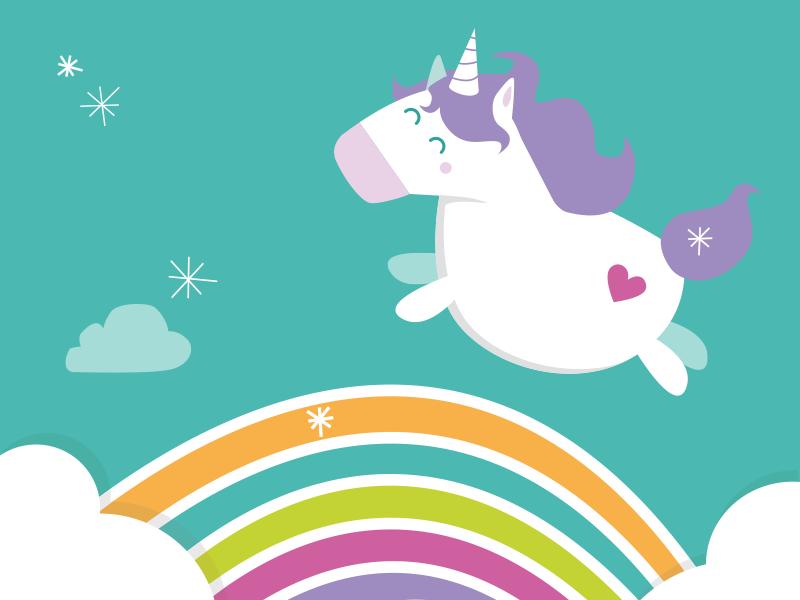 Unicorn project rainbow arc-en-ciel licorne unicorn illustration