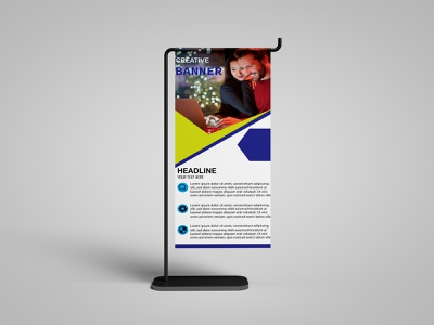 Roller Banner poster flyer logo design corporate flyer music flyer business card corporate design brochure bannner