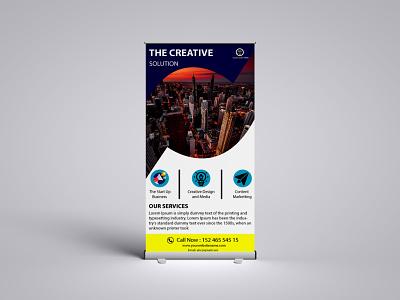 Roller Banner Design poster illustration business card party flyer logo admissions bi fold brochure brochure music flyer bannner