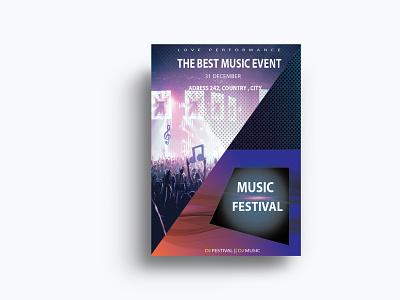 MUSIC FLYER poster business flyer party flyer flyer corporate design corporate flyer business card music flyer bi fold brochure bannner