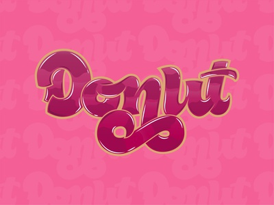 Donas illustration typography type lettering handlettering design calligraphy and lettering artist calligraphy