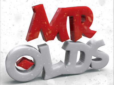 Mr. Olds (Versión Plástico) 3d illustration typography type lettering handlettering design calligraphy and lettering artist calligraphy