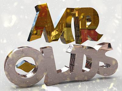 Mr. Olds (Versión metal) 3d illustration typography type lettering handlettering design calligraphy and lettering artist calligraphy