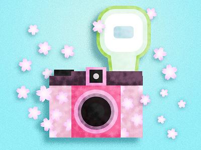 Lomo camera texture flat illustrator illustration camera lomo sakura japan