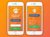 Pet App - Register & Login Screen