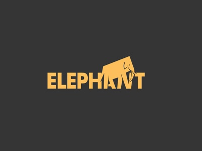 Elephant Logo business logo graphic design best logo vector bangla illustration wordmark logo minimalist logo custom logo design branding logo design