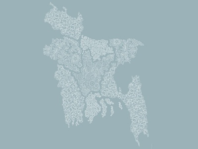 Bangladesh Map map bangladesh line art
