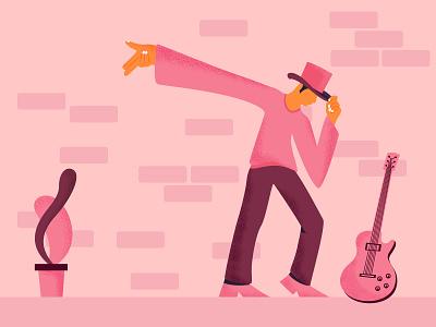 Rock Music guitarist guitar illustration rock music