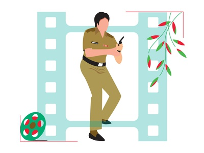 Film star ab star film vector line drew design illustration