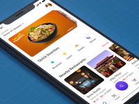 Home Screen UI | Food Delivery App restaurant app home screen delivery carousel food app home mobile ui restaurant ios food app