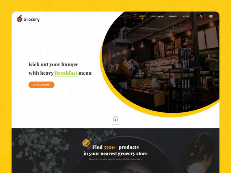 Grocery Website    Online Grocery Delivery 2020 trend ecommerce adobexd groceries  website homepage landing page shop store ui ui template user interface website website concept website design website template