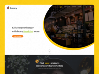 Grocery Website || Online Grocery Delivery 2020 trend ecommerce adobexd groceries  website homepage landing page shop store ui ui template user interface website website concept website design website template