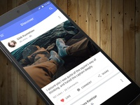 Social News Feed | Mobile App Conept