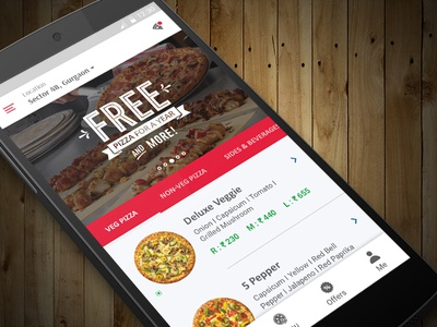 Pizza Delivery App Concept ui invite redesign pizza restaurant order pizza food app dominos