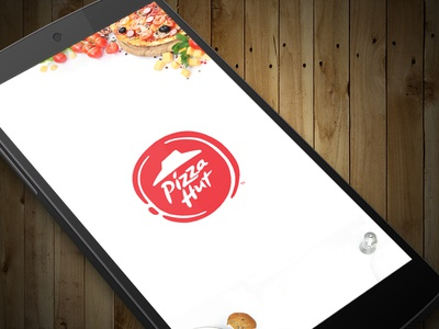 Launch Screen | Pizza Hut App restaurant redesign order pizza food app ux ui pizza hut pizza mobile app interaction food app