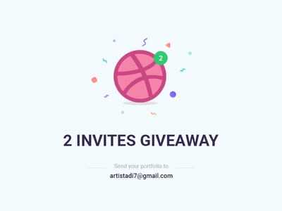 Two Dribbble Invite Giveaway draft designer ux ui dribbble invitation giveaway invite dribbble invite