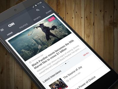 CNN Mobile App Concept bbc concept home ux ui news app news headline cnn
