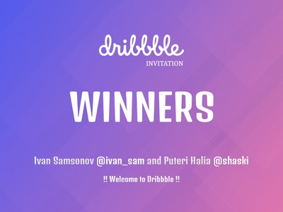 Dribbble Invites - Winners giveaway drafted draft winner invite dribbble