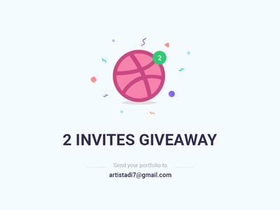2 Dribbble Invite Giveaway dribbble invite invite giveaway dribbble invitation ui ux designer draft