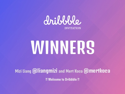 Dribbble Invites - Winners #2 dribbble invite winner draft drafted giveaway