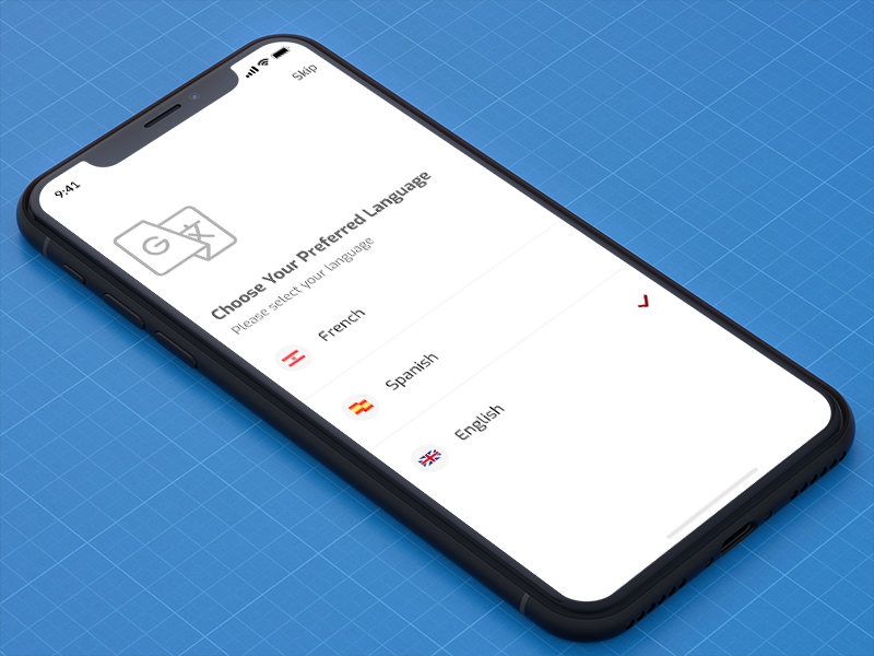 Select Language select choose language design app mobile app ux ui