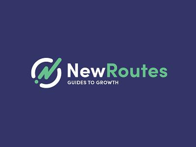 NewRoutes logo logo design typography branding mark design logo