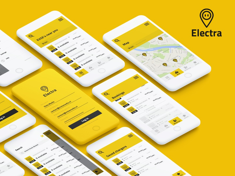 Electra app branding minimal ux app ui logo design