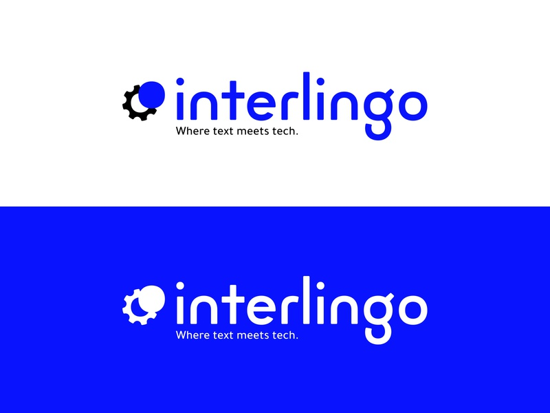 Interlingo logo graphic design typography icon minimal flat vector logo design branding