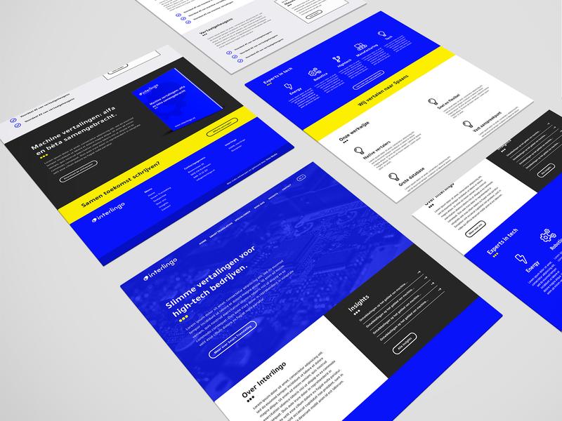 Interlingo website web development website web graphic design ux ui minimal flat design branding