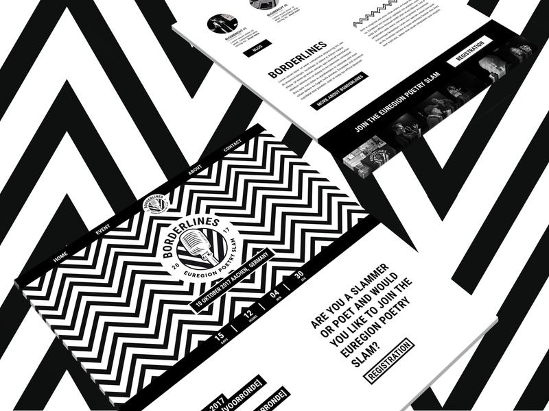 Borderlines Poetry Slam website vector web website graphic design minimal flat branding design
