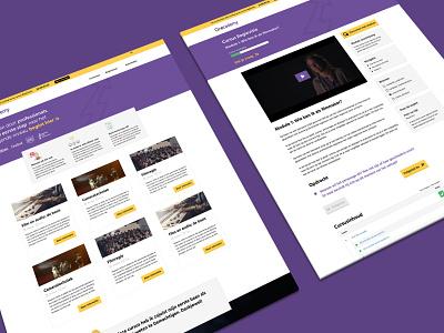 CineCademy platform website ux ui web graphic design minimal flat design branding