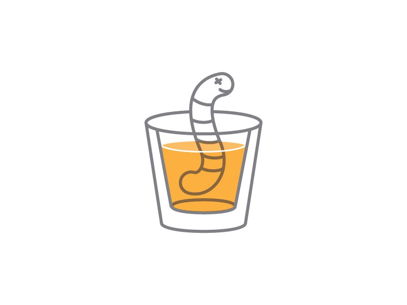 The Late Worm shot icon illustration
