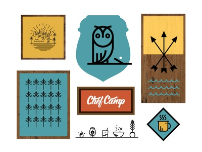 Chef Camp MN icon design illustration