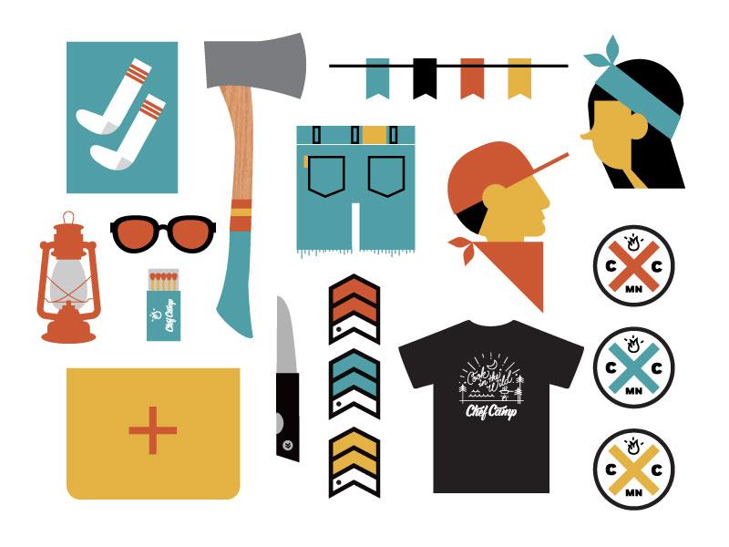 Chef Camp MN illustration design icon