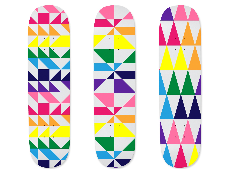 Pride Skateboard Concepts design vector pattern illustration