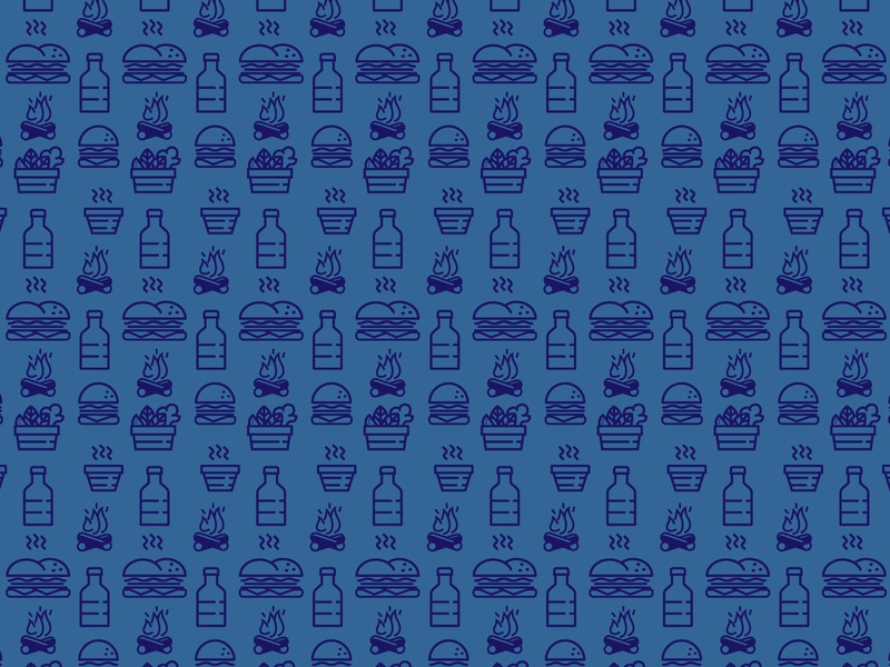 Food Fire Water pattern vector illustration