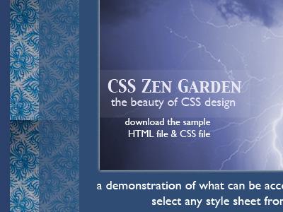 Indigo CSS Zen Garden indigo zen garden css purple blue